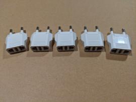 US naar EU adapters wit (set van 5)