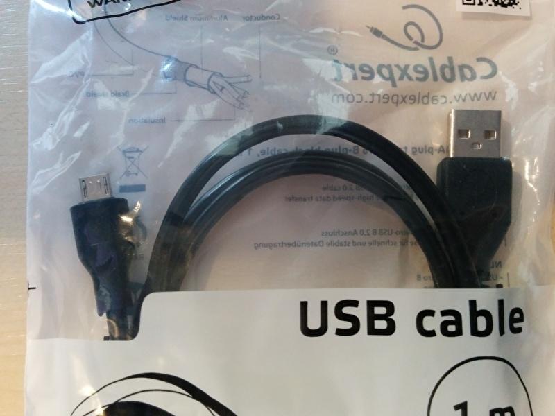 USB 2.0 A naar Micro B plug 1.mtr