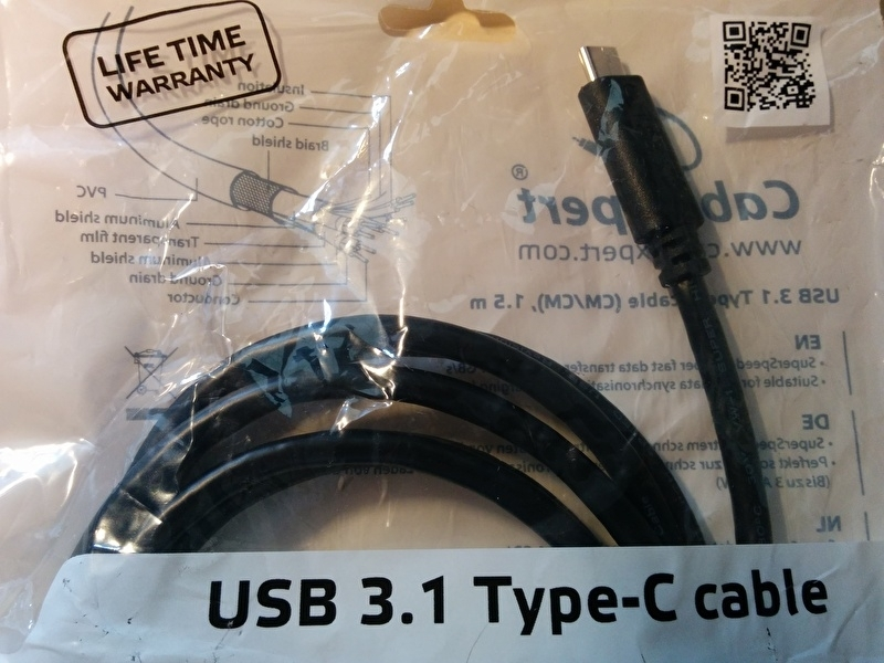USB 3.1 Type C cable 1.5mtr