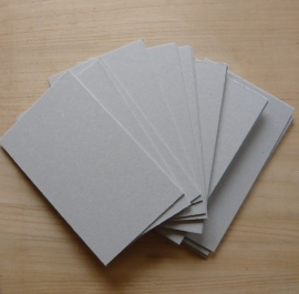 Grey cardboard 50 pieces