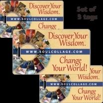 SoulCollage® label voor aan je tas (set van 3)