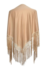 Spanish Flamenco Dance Shawl Beige
