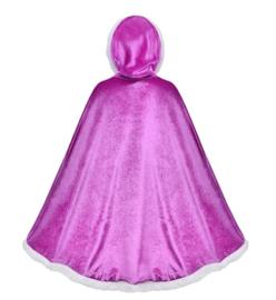 Prinsessen cape paars + GRATIS kroon