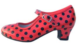 Spaanse schoenen rood zwart glossy
