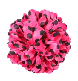 Spanish hair flower pink black dots
