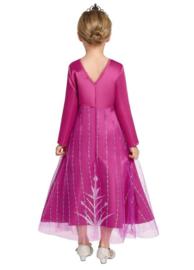 Elsa jurk roze Deluxe + GRATIS ketting