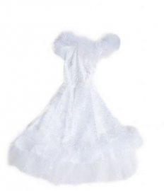 Flamenco princess dress white