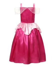 Prinsessen jurk fel roze goud + GRATIS haarband
