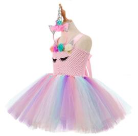 Eenhoorn Unicorn jurk Luxe Prinses roze + GRATIS haarband