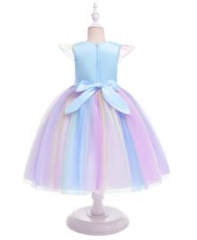 Eenhoorn Unicorn jurk blauw Classic Deluxe + GRATIS haarband