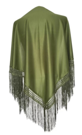 Spanish Flamenco Dance Shawl Army Green