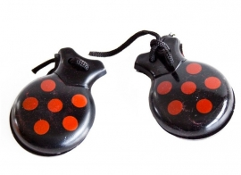 Spanish Castanets black red