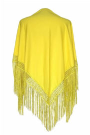 Spanish Flamenco Dance Shawl Yellow