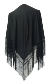 Spanish Flamenco Dance Shawl black