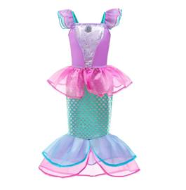 Zeemeermin prinsessenjurk roze + GRATIS haarband