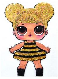 LOL Queen Bee prinsessen jurk verkleed set + GRATIS ketting