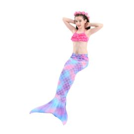 Zeemeerminnen staart + bikini roze + GRATIS krans