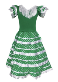 Flamenco jurk groen wit