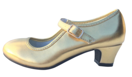 Flamenco shoes gold