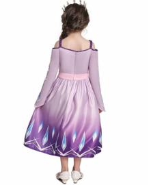 Elsa jurk paars Deluxe + GRATIS ketting