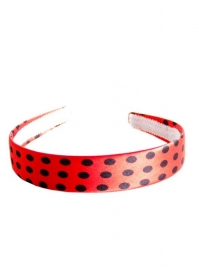 Headband red black dots