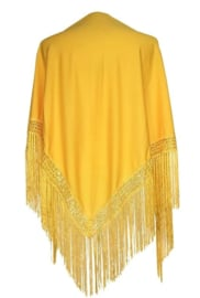 Spanish Flamenco Dance Shawl dark Yellow