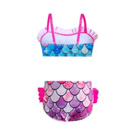 Zeemeermin bikini roze + GRATIS ketting en armband