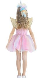 Eenhoorn Unicorn jurk roze met vleugels + GRATIS haarband