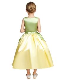 Prinsessenjurk groen geel + GRATIS kroon