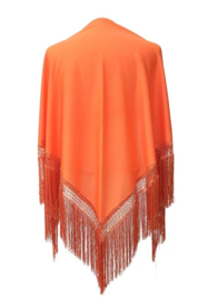 Spanish Flamenco Dance Shawl Orange