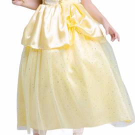 Prinsessenjurk licht geel Luxe + GRATIS haarband
