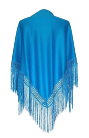 Spanish Flamenco Dance Shawl Blue