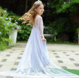Elsa jurk IJskoningin Deluxe + GRATIS kroon