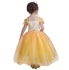 Prinsessenjurk Bella geel Luxe + GRATIS handschoenen