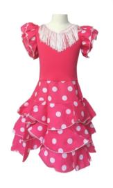 Vestito Flamenco rosa bianco Niño