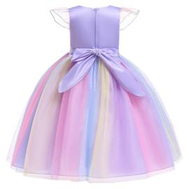 Eenhoorn Unicorn jurk paars Classic Deluxe + GRATIS haarband