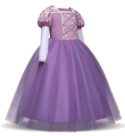 Prinsessenjurk paars Luxe + GRATIS kroon paars