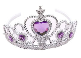 Zeemeerminnen jurk donker paars + GRATIS kroon