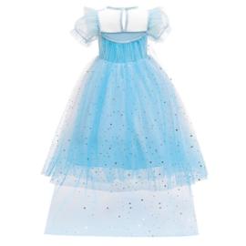 Elsa droom jurk sterren + GRATIS kroon