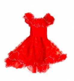Flamenco princess dress red