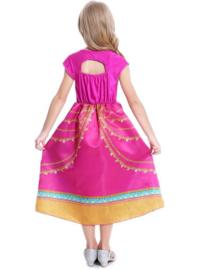 Jasmine jurk roze goud + GRATIS haarband blauw