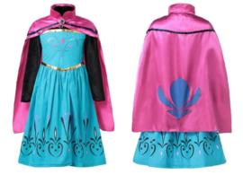 Elsa jurk Kroning met cape + GRATIS ketting