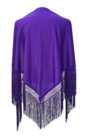 Spanish Flamenco Dance Shawl Purple
