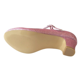 Spaanse schoenen roze glitter NIEUW