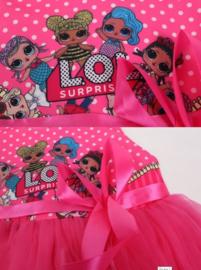 LOL Surprise jurk prinsessen fel roze + GRATIS haarband