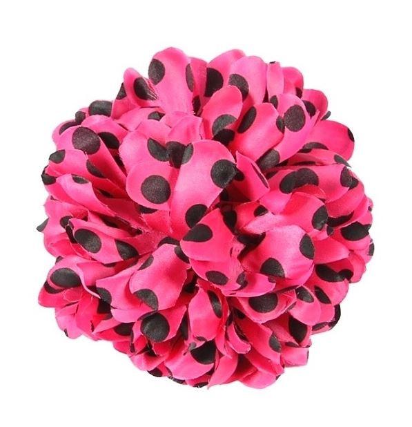 Haarbloem roze zwarte stippen