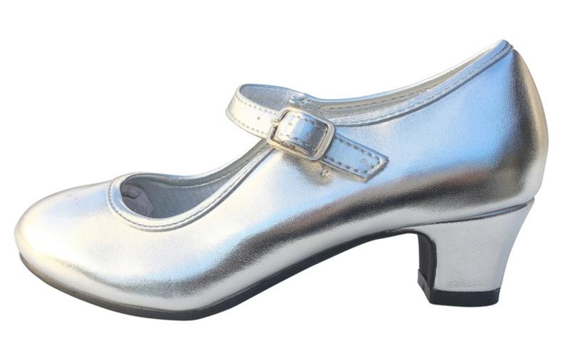 Flamenco schoenen zilver