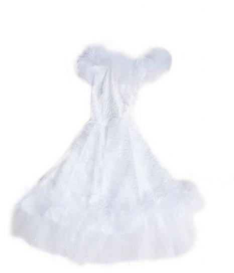 Flamenco prinsessenjurk wit