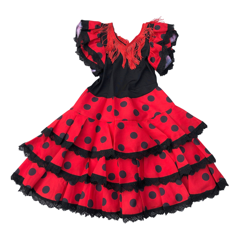 Flamenco Kleid schwarz rot Niño