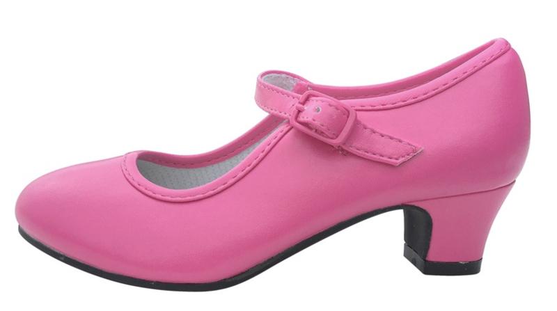 Spaanse schoenen roze fuchsia
